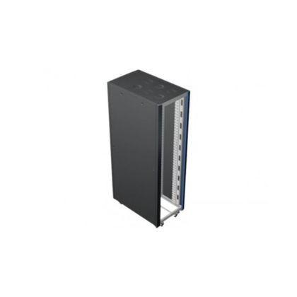 Baie 24U, 800*1000, équipé de 2 passes câbles verticaux et jeu de 4 ventilateurs avec thermostat.