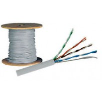 Cable FTP, CAT5E, PVC, couronne de 100m.