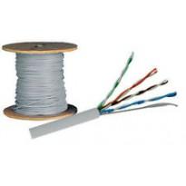 Cable FTP, CAT5E, PVC, couronne de 100m.