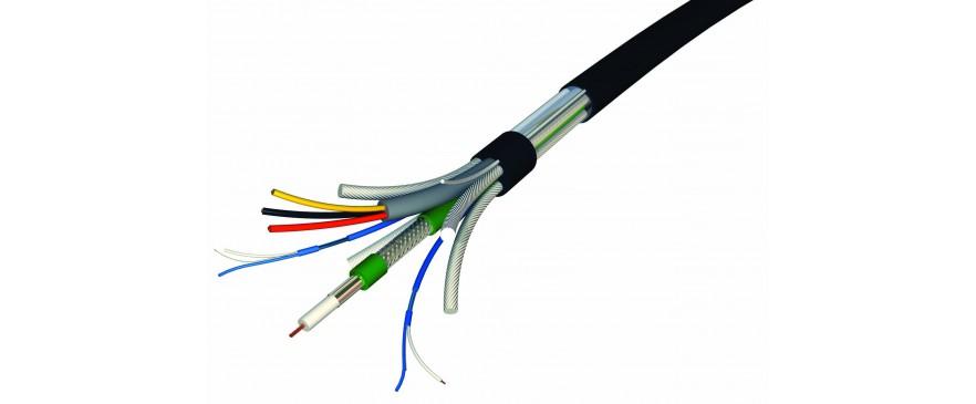 Cable coaxial KX6, XK100, anti feu et connecteurs